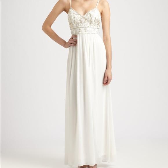 Sue Wong Dresses & Skirts - Sue Wong White Spaghetti Strap Gown